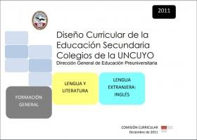 DISEÑO CURRICULAR: FORMACIÓN GENERAL: Lengua y Literatura - Lengua extranjera: inglés