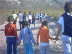 Caminata escuela yapeyú